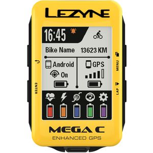 Lezyne Mega C Limited Yellow Edition GPS Bike Computer