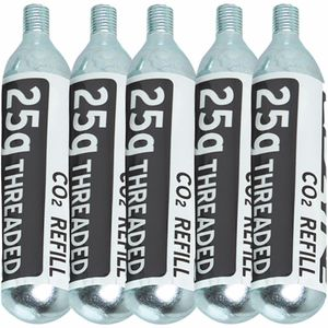 Lezyne 25G Threaded CO2 Cartridge - 5-Pack Refill
