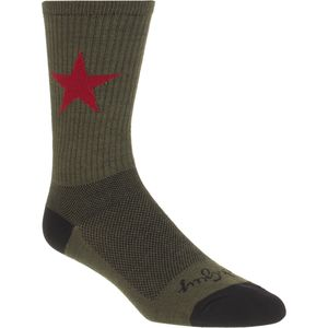 SockGuy Red Star 6in Wool Sock