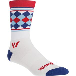Swiftwick Vision Argyle Stripe Five Crew Sock