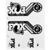 FOX Racing Shox Heritage Fork and Shock Decal Kit Detail